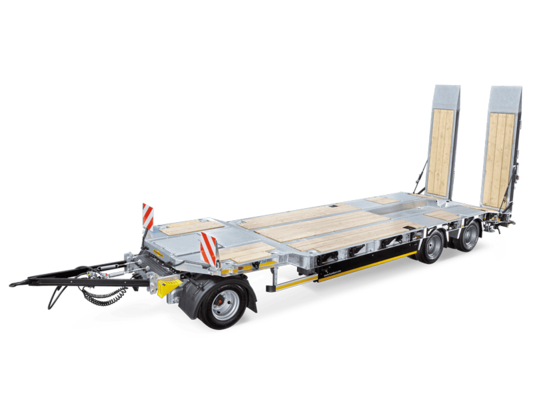 Turntable flatbed trailer HTD 30 cranked